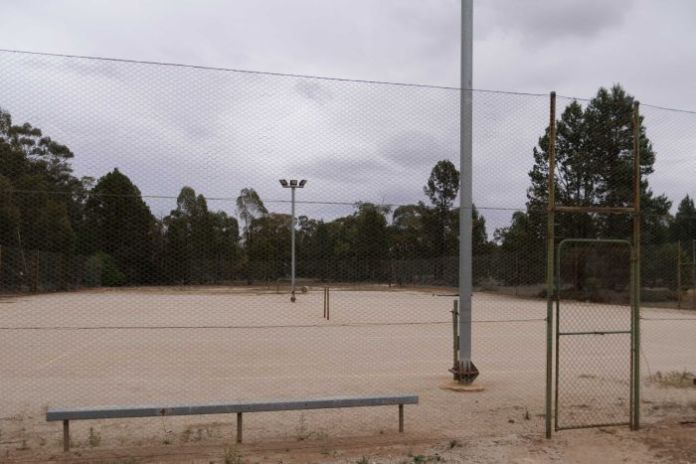 rural tennis court