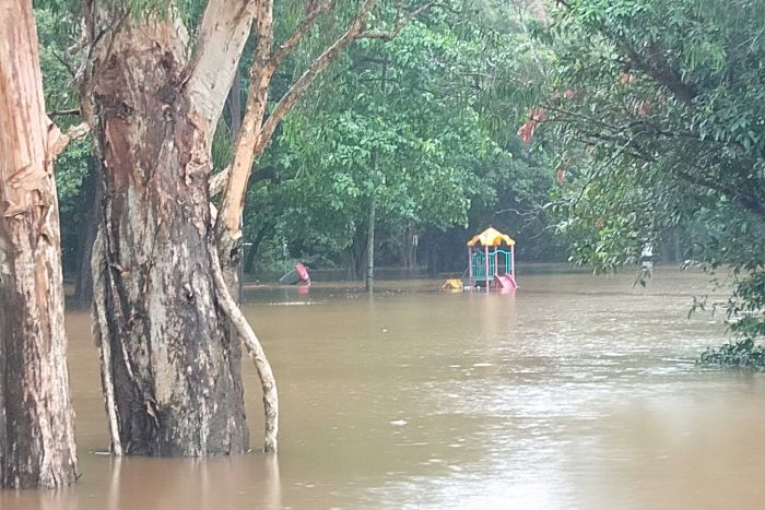 Ex Tropical Cyclone Owen crosses the far north Queensland coast flooding a local park in Cairns.
