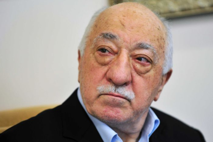 A close up of Islamic cleric Fethullah Gulen