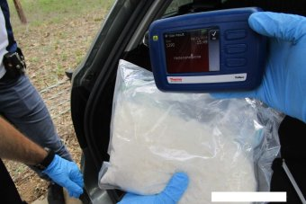 ACT Policing seized 10,000 hits of ice from inside a car spare wheel. December, 2018.
