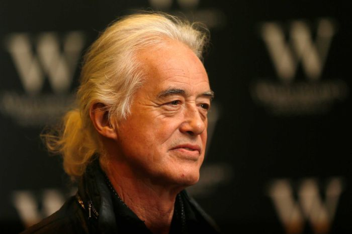 A close up of Jimmy Page