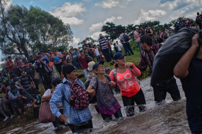 Migrant caravans have been leaving El Salvador, Guatemala and Honduras to reach the United States.