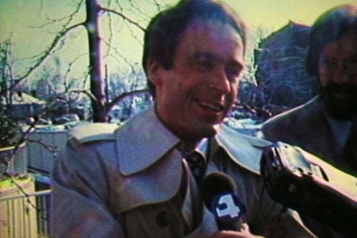 Ted Bundy speaks to a reporter in the 70s.