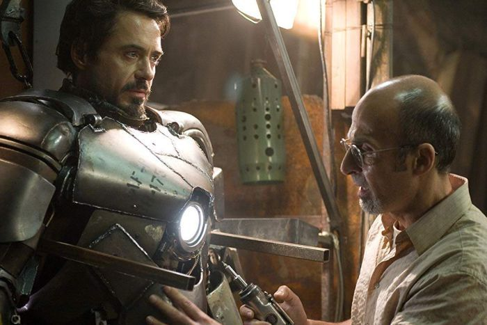 Tony Stark and fellow captive Yinsen build the first Iron Man suit to help them escape.