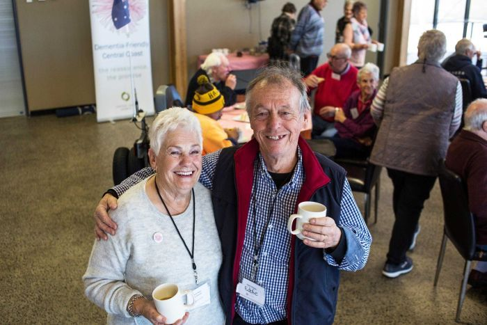 Dementia cafe volunteers Wendy Nash and Eddie Roberts