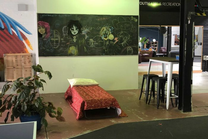 A bed at Hobart's new Safe Night Space