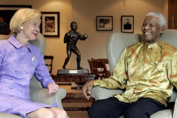 Governor-General Quentin Bryce and former South African President Nelson Mandela
