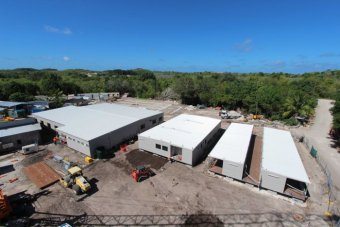 Construction at the immigration detention centre on Nauru on August 14, 2013