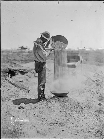 Early gold miner