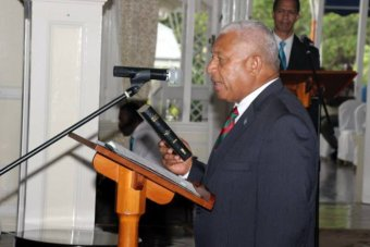 Frank Bainimarama sworn in as Fiji's prime minister