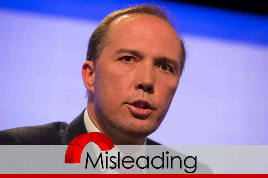 Peter Dutton misleading on Red Cross Ebola funding