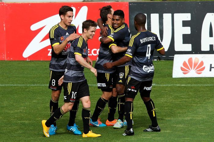 Wellington Phoenix goal celebration
