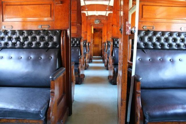 Inside a heritage steam carriage