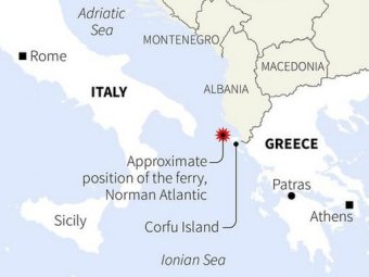 Greece ferry map