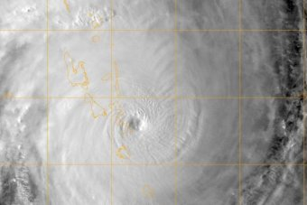 Cyclone Pam satellite image from Fiji's weather service Na Draki