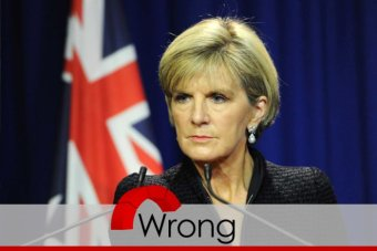 Julie Bishop wrong on the history of Australia's financial accounts