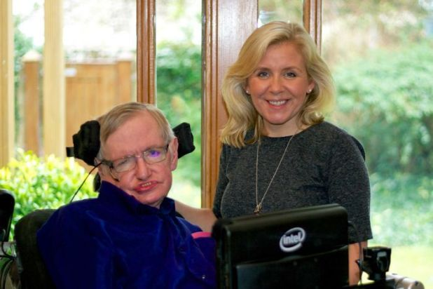 World famous physicist Stephen Hawking and his daughter Lucy