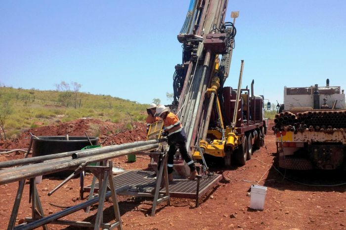 Works underway at Pilgangoora