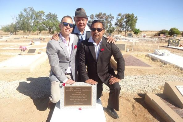 Dr Marjad Page with his father Ricky and grandfather Ronald