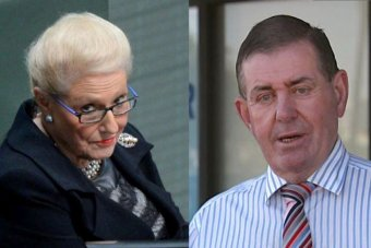 Composite of Bronwyn Bishop and Peter Slipper