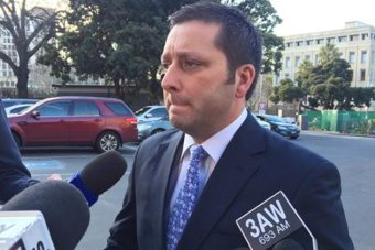 Liberal leader Matthew Guy gives an interview.