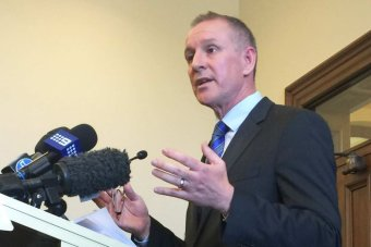 Jay Weatherill speaks to the media