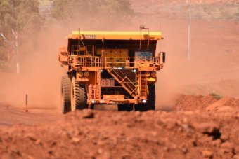 A driverless truck at Rio Tinto's Yandicoogina mine in the Pilbara.