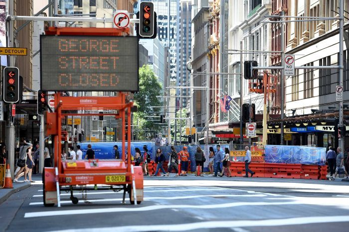 George Street closed to traffic in Sydney's CBD