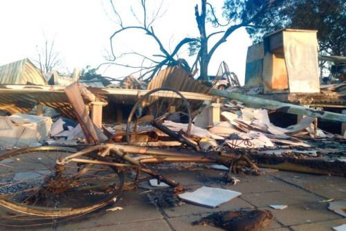 Kassy Tapp's neighbour's house was destroyed by the fire