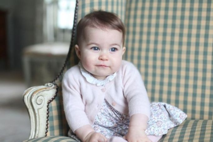 Princess Charlotte, daughter of the Duke and Duchess of Cambridge