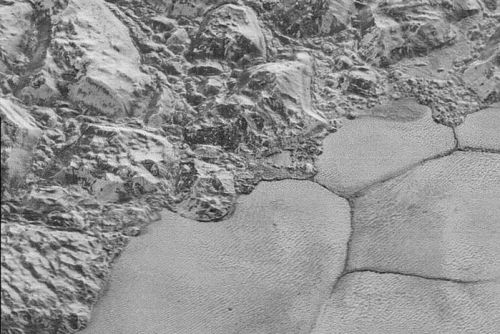 Pluto's water-ice crust