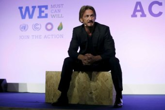 Actor Sean Penn at COP21