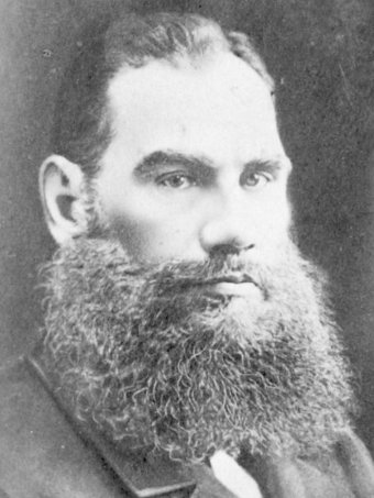 An undated picture of War and Peace author Leo Tolstoy.