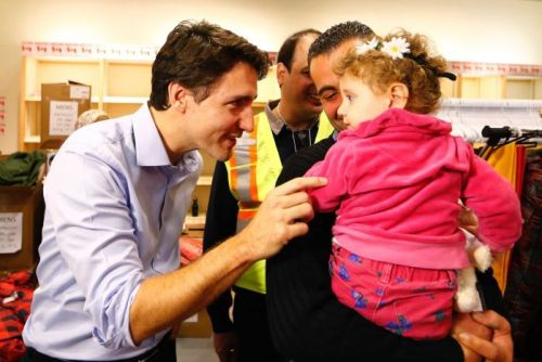 Canada's PM Justin Trudeau welcomes Syrian refugees