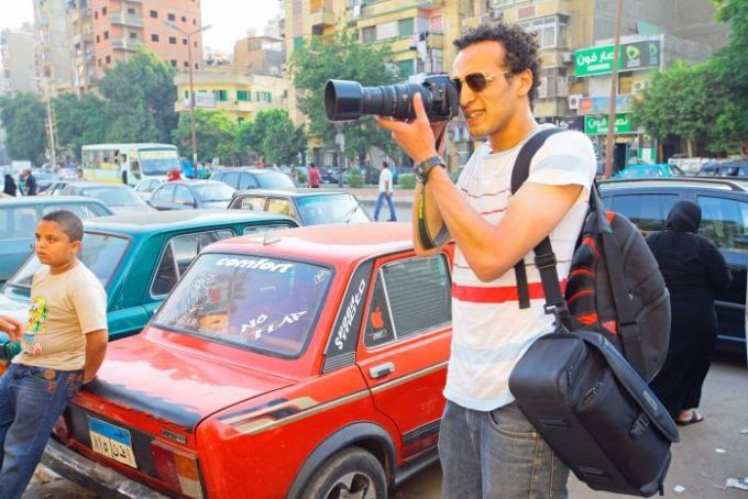 Mahmoud 'Shawkan' Abu Zeid was arrested while photographing demonstrations after the fall of president Mohammed Morsi in August 2013.
