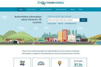 Victorian council website Know your council screen shot