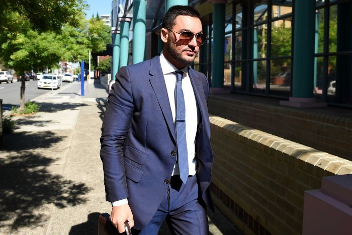 Salim Mehajer arrives at Burwood Local Court in Sydney.