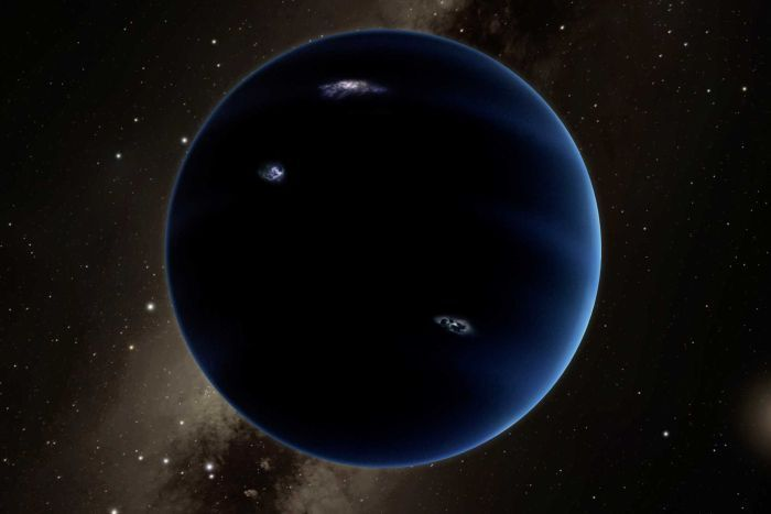 Artist's impression of 'Planet Nine'