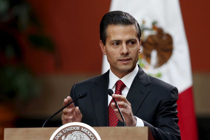 Mexico's President Enrique Pena Nieto speaks during a news conference.