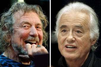 Singer Robert Plant and guitarist Jimmy Page