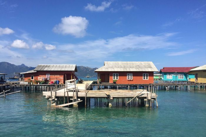 A fishing village on the Natuna Islands