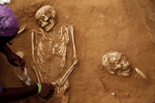 Skeletons of ancient Philistines excavated in Israel