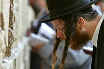 An ultra-orthodox Jewish man prays at the Western Wall (Reuters: Gil Cohen Magen)