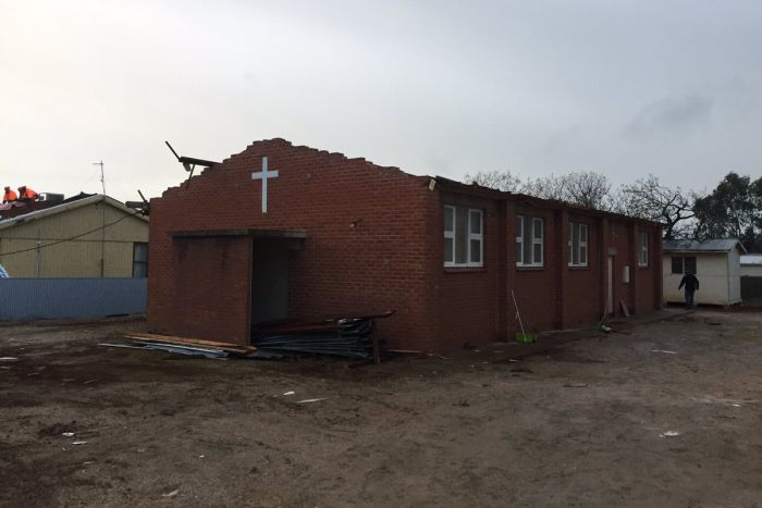 Church damaged at Blyth