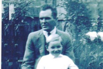 "William ""Big Billy"" young and son Billy, aged 6."