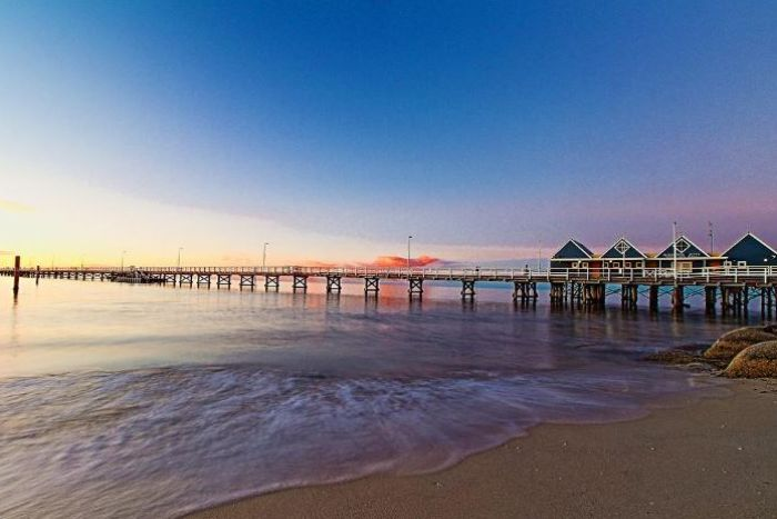 A sunset over a jetty at Busselton WA