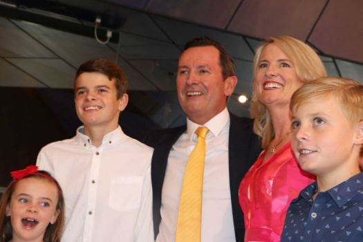 WA Opposition Leader Mark McGowan and his family - ABC ...