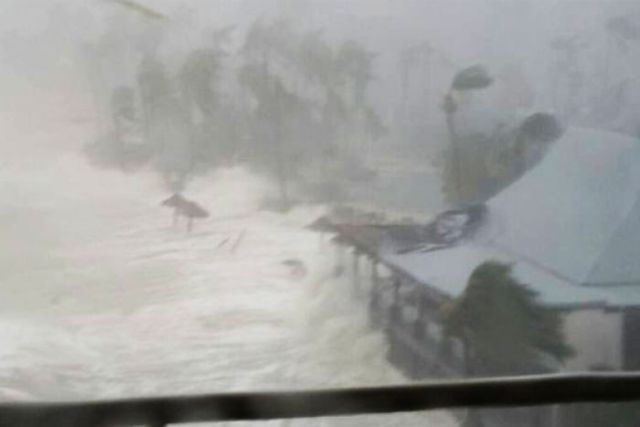 Cyclone Debbie before and after