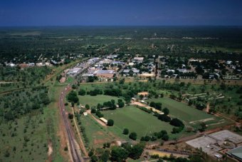 The NT town of Katherine, seen from the air