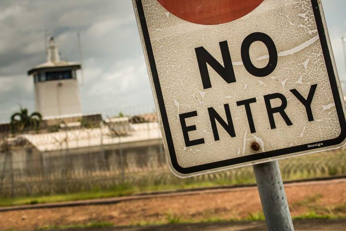 A sign outside the Don Dale Youth Detention Centre in Darwin